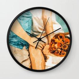 Romance #painting #love Wall Clock