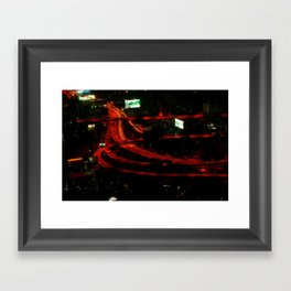 Bangkok by night Framed Art Print