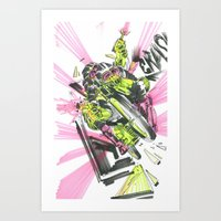 moto Art Prints featuring Moto Mutants by Mike McDonnell