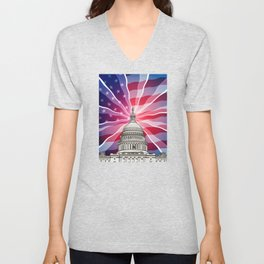 The World of Politics Unisex V-Neck