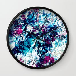 Frozen Flowers II Wall Clock
