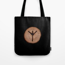 Algiz Elder Futhark Rune divinity, higher self, the state of listening, Valkyrie Tote Bag