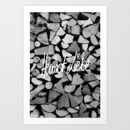 Heimat Liebe Art Print