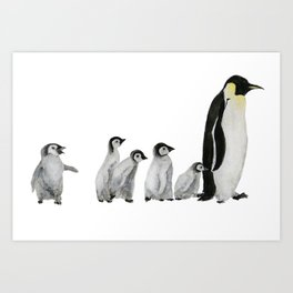 Little penguin says NO I am not going with you Art Print
