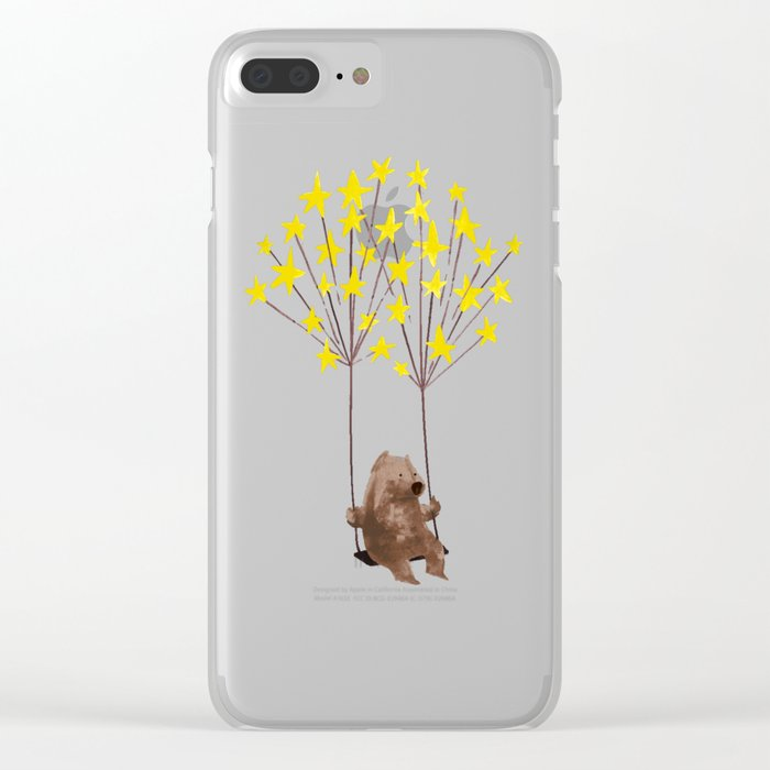 Stars Swing Clear iPhone Case