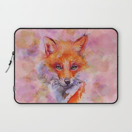 Watercolor colorful Fox Laptop Sleeve
