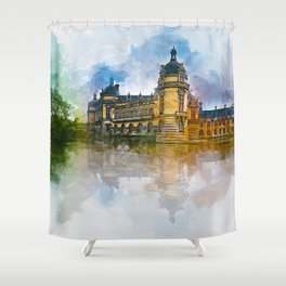 Château de Chantilly Shower Curtain