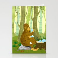 bigfoot Stationery Cards featuring Bigfoot Busted by Tim Paul