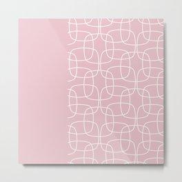 Square Pattern Pink II Metal Print