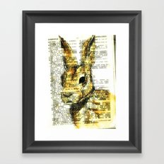 rabbit n. Framed Art Print