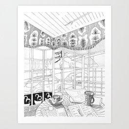 Cafe in Montclair Art Print