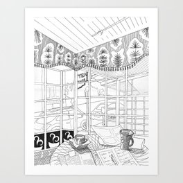 Cafe in Montclair Art Print