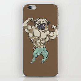 Pug Bodybuilder iPhone Skin