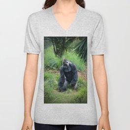 Standing Gorilla Unisex V-Neck