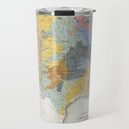 1874 Geological Map of the United States Travel Mug