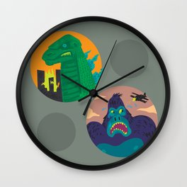 More Godzilla, Less King Kong Wall Clock