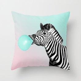 Zebralicious Throw Pillow