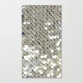 Shiny Silver Sequins Canvas Print