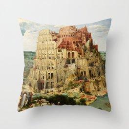 Tower Of Babel Pieter Bruegel The Elder Throw Pillow