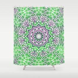 Green - purple kaleidoscope Shower Curtain