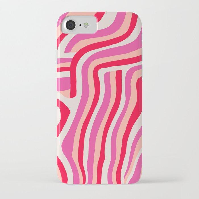 pink zebra stripes iphone case