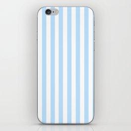 Classic Seersucker Stripes in Blue + White iPhone Skin