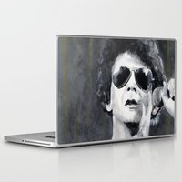 lou reed Laptop & iPad Skins featuring Lou Reed by Vikki Sin