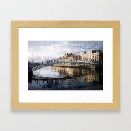 Ha'PPeny Bridge Framed Art Print