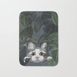 Jungle cat at night Bath Mat