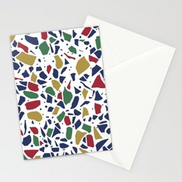 Terrazzo Spot Color on White Stationery Cards