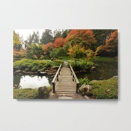 Bridge to Happiness, Autumn Metal Print