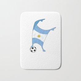 Argentina Flag Football Cup Soccer 2018 Dabbing World Bath Mat
