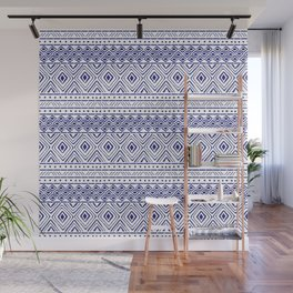 African Mud Cloth // Blue Wall Mural