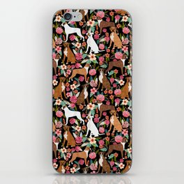 Boxer floral dog breed gifts for boxer lovers pet florals boxers must haves iPhone Skin