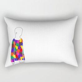 my rainbow-coloured sweater Rectangular Pillow