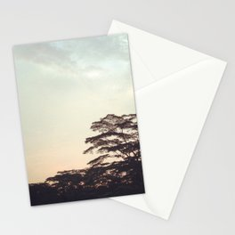 the faint sunset Stationery Cards