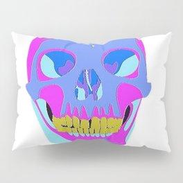 Neon Pixel Psychaedelic Halloween Skull  Pillow Sham