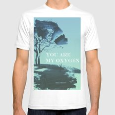 you are my oxygen Mens Fitted Tee White MEDIUM