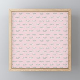 Small Pink Sleeping Eyes Of Wisdom - Pattern - Mix & Match With Simplicity Of Life Framed Mini Art Print
