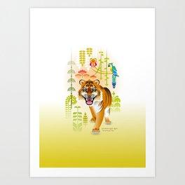 Royal Bengal Tiger [Panthera Tigris Tigris] Art Print