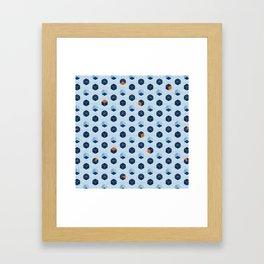 Blue Cubes Framed Art Print