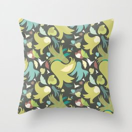 The powerful an green spring is coming Throw Pillow