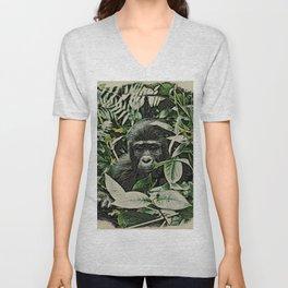 Animal ArtStudio 22516 Gorilla Baby Unisex V-Neck
