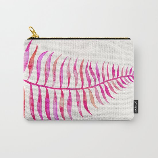Pink Palm Leaf Carry-All Pouch