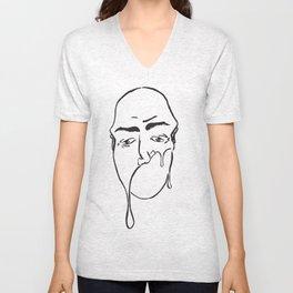Melty Face 1 Unisex V-Neck