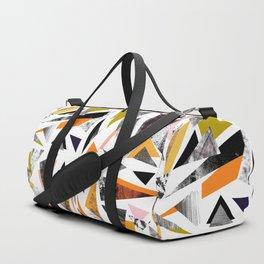 Colourful textured triangles print Duffle Bag