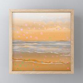 Peach Beach Memories Framed Mini Art Print