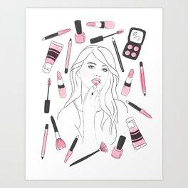 Make Me Up II Art Print