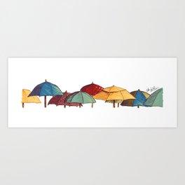 Umbrellas - Archie of Outlandish Art Print