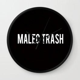 Malec Trash Wall Clock
